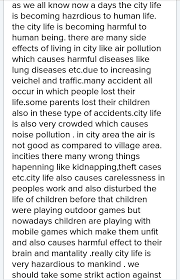 city life essay write a essay on the hazard of city life in 250 to 300 words