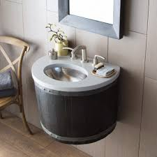 bathroom sink awesome bordeaux wall mount vanity anvil wine barrel mounted bathroom sinks base native trails reclaimed in ceramic sink small basins tiny
