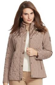 Lauren Ralph Lauren Faux Leather Trim Quilted Jacket (Plus Size ... & Main Image - Lauren Ralph Lauren Faux Leather Trim Quilted Jacket (Plus Size ) Adamdwight.com