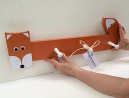 Nursery Coat Rack Orange Fox Clothing Rack Peg Rack Fox Coat Rack Fox Wall Hook 4