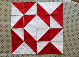 Red Sky at Night - Broken Dishes and Whirlpool — Tales of Cloth ... & ... the Whirlpool block, you'll see a larger red triangle under a  parallelogram. That part of the block is repeated, but turned once around  the quilt block. Adamdwight.com