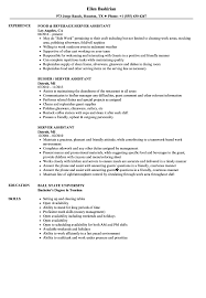 resume sample for restaurant server server assistant resume samples velvet jobs