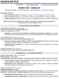 Entry Level Marketing Resume Samples Experience Resumes