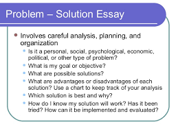 elements of an effective essay problem solution essay