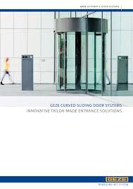 geze semi circular and circular sliding door systems 1 32 pages