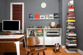 chic home office decor:  home office ideas  home office ideas shabby chic style desc executive chair gray etagere bookcases birch rattan filing cabinets stackable gooseneck desk lamps desk accessories