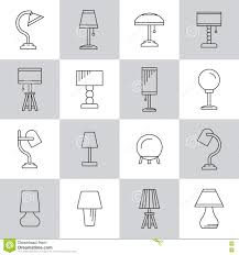 Set Table Lamp Stock Vector Illustration Of Equipment 76775926