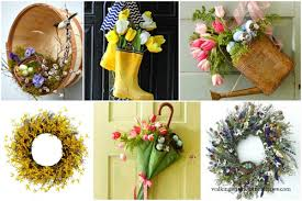 spring wreath for front doorDecorating Spring Wreaths for the Front Door  Walking on Sunshine