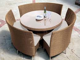 patio patio light brown round modern rattan patio furniture for small small outdoor patio
