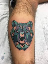 My Geometric Bear Done By Pat Schreader At Electric 13 Tattoo