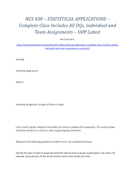Completed Assignments Chart Hcs 438 Statistical Applications Complete Class Includes