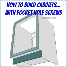 diy project plan how to build cabinets with pocket hole s via sandra pendle
