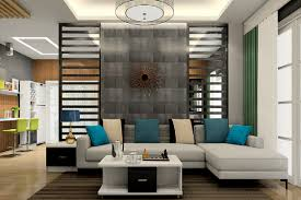 Living Room Sofa With Partition Wall