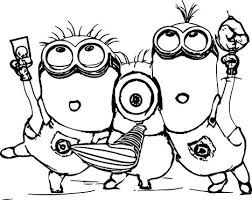 Small Picture Minion Christmas Coloring Pages Part 1