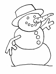 Snowman3 Winter Coloring Pages Coloring Book Little Girl Coloring