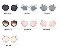 UNISEX ROUND RETRO <b>Sunglasses</b> Vintage <b>Glasses</b> Circle ...