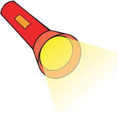 cartoon flashlight clipart