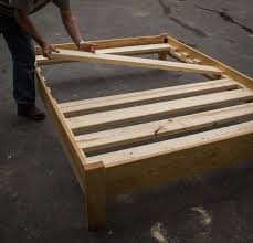 oak or ash simple platform bed frame custom made of solid hardwoods twin full queen king or california king slats not included