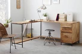 metal home furniture. L Shape Furniture. Home Office Modular Desk Design Natural Brown Wooden Metal Backless Furniture N