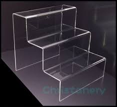 Acrylic Tiered Display Stands 100PC ACRYLIC DISPLAY STAND STEP RISER 100 TIER DURABLE ACRYLIC 5