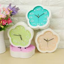creative small fresh flower clock lazy bed small bedroom desk alarm clock simple digital electronic clock