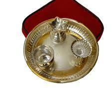 german silver pooja thali boontoon