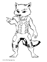 Small Picture Guardians of the Galaxy Rocket Raccoon coloring page