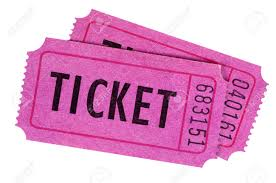 images of raffle tickets two purple or pink movie or raffle tickets isolated on a white