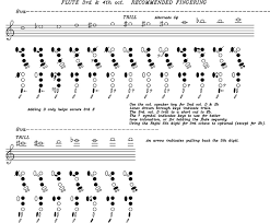 Flute Multiphonics Chart Flutes With Linear Fingering System Js Engineering