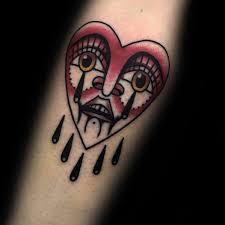 50 Plačící Srdce Tetování Vzory Pro Muže Cool Inkoustové Nápady