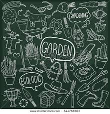 Small Picture Garden Themed Doodle Set Various Equipment Stock Vector 285914873