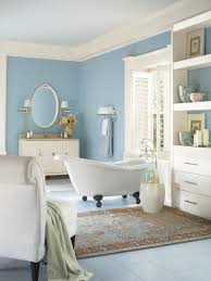 Master bathroom color ideas Slipper Satin Paint Traditional Bathroom With Soft Blueandwhite Color Palette Decordezine Fresh Bathroom Colors To Try In 2017 Hgtvs Decorating Design