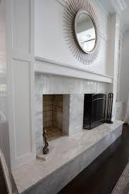 quartz slab fireplace surround houzz toronto mantels w