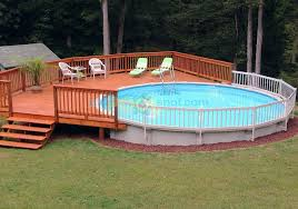 the elegant as well as beautiful above ground pool wood deck kits regarding residence the patio supply