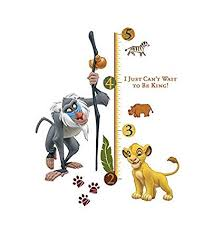Interactive Growth Chart Boys Disney The Lion King Rafiki Height Chart Wall Stickers Vinyl