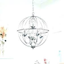 shocking metal orb chandelier image concept