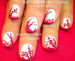 Nail Art Tutorial | Easy Cherry Blossom Nail Art Design for ...