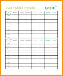 Editable Homework Study Timetable Schedule Template Word Format ...