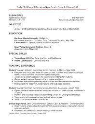 Resumes Preschool Teacher Resume Cover Letter Samples Format Sample