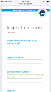 Inspection Form Facility Inspections Using Google Forms Process Street