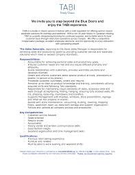 Agreeable Resume Retail Sales Associate Job Description With
