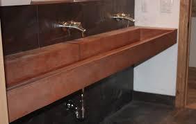 Inspiration Badezimmer Sehr Beliebt Braune Fake Holz Beton Trog