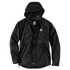 Carhartt Mens Large Black Nylon Dry Harbor Jacket