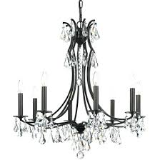 swarovski strass crystal chandelier cl s cedar 8 light crystal chandelier in vibrant bronze with clear