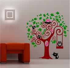 Kids Bedroom Wall Animal Tree Wall Art Sticker Vinyl Kids Bedroom Ebay
