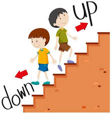 upstairs clipart. Simple Upstairs Boys Walking Up And Down Illustration Throughout Upstairs Clipart P