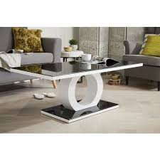 white high gloss and glass coffee table