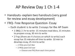 ap review day ch handouts explain two handouts very good 1 ap