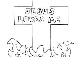 Jesus Loves Me Coloring Page Free Colouring Pages You High
