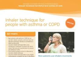 Asthma And Copd Medications Chart Asthma Copd Medications Chart National Asthma Council